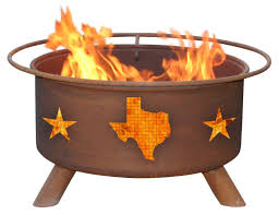 patina products texas state steel wood burning fire pit u0026 reviews