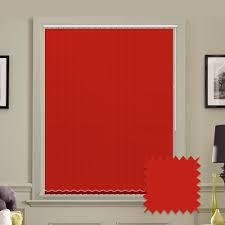 made to measure vertical blinds in red plain fabric just blinds