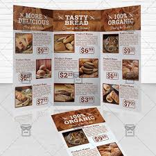 2 fold brochure template bakery food premium tri fold brochure template exclsiveflyer