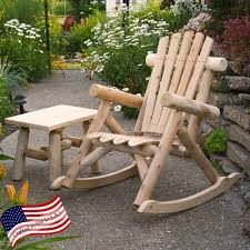 lakeland mills classic cedar log rocking chair hayneedle