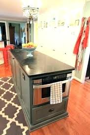 kitchen island with microwave microwave in island herogames me