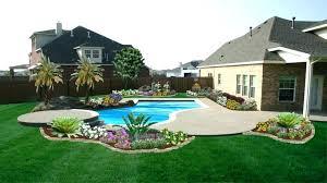 Backyard Pool Landscape Ideas Backyard Landscape Designs With Pool Nomadik Co