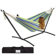 outsunny swing hammock chair mesh outdoor patio seat bed canopy