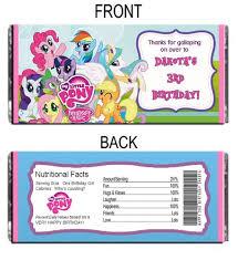 my little pony personalized hershey wrapper digital file