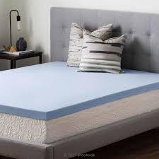brookside 2 5 in twin xl gel infused memory foam mattress topper