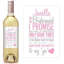 asking bridesmaid gifts custom bridesmaid gift bridesmaid wine bottle label
