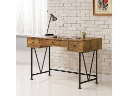 Secretary Style Computer Desk by Coaster Barritt Industrial Style Writing Desk With 3 Drawers Del