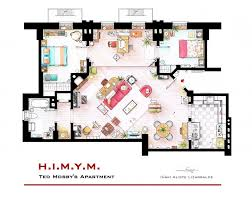 ted mosby u0027s apartment floorplan from