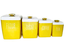 yellow kitchen canister set yellow kitchen containers kitchen canisters kitchen decor