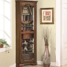 coaster curio cabinets 5 shelf corner curio with 1 door u0026 acanthus
