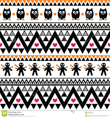 halloween seamless background halloween seamless pattern tribal aztec print style stock