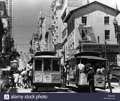 usa california san francisco street scene 1950s stock photo