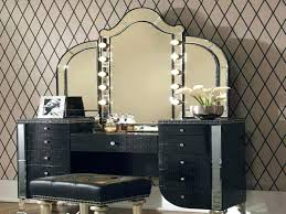 Lighted Makeup Vanity Mirror Vanities Rosedale Mirrored Vanity Contemporary Bedroom And
