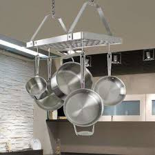 oil rubbed bronze pot rack with lights pot racks williams sonoma in ceiling mounted rack ideas 7