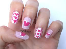 diseños de corazones y puntos 2 diseños hearts u0026dots nail art