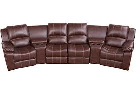 san angelo brown 5 pc reclining sectional living room sets brown