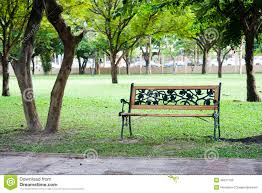 Background With Chair Wood Chair In Park Stock Photo Image 45877109