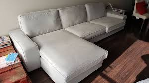 Two Seater Sofas Ikea Ikea Kivik Ramna Light Grey Two Seat Sofa And Chaise Longue In