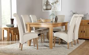 Rustic Oak Dining Table With  Richmond Cream Chairs Only - Rustic oak kitchen table