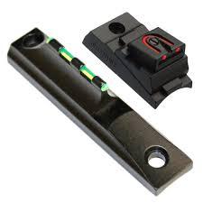 fiber optic sight set muzzleloader rifles