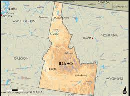 map of idaho geographical map of idaho and idaho geographical maps