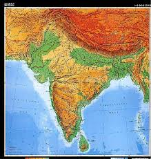 map of nepal and india physical map of india india india