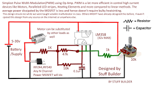 how to build the simplest pwm pulse width modulated dc motor