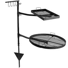 fire pit grates adjustable campfire cooking racks round u0026 square