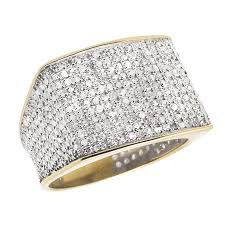 real diamond rings images Jewelry unlimited 10k yellow gold men 39 s pave eternity real jpeg