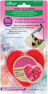 amazon com clover heart large yo yo maker arts crafts u0026 sewing