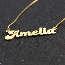 Nameplate Necklace Double Plated Aliexpress Com Buy Custom Solid Name Necklace 925 Silver