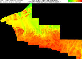 Michigan Elevation Map by Free Gogebic County Michigan Topo Maps U0026 Elevations