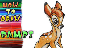 how to draw bambi learn to draw drawing lessons coloring pages