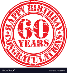 60 years birthday happy birthday 60 years grunge rubber st vector image