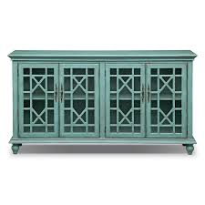 Chinese Credenza Grenoble Media Credenza Teal American Signature Furniture