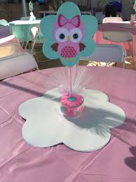 owl centerpieces centerpiece pink baby owl pink baby owl baby shower
