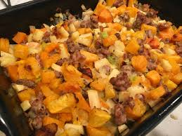 paleo butternut squash sausage and apple not my