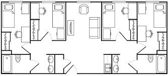 Twin Home Floor Plans Asu Barrett Honors Complex Arizona State University