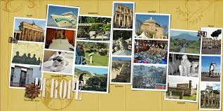 ideas for scrapbooking travel with a layout that summarizes the