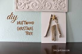 diy driftwood christmas tree canvas