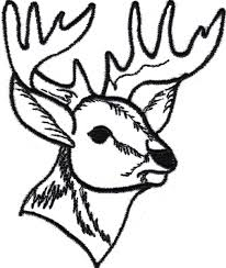 deer head coloring pages more information