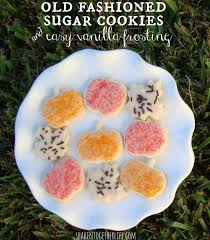 s cookies fashioned sugar cookies easy vanilla frosting
