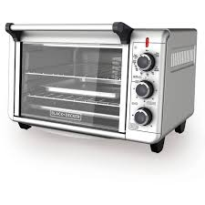 Toaster Oven With Auto Slide Out Rack Black Decker 6 Slice Convection Countertop Toaster Oven Silver