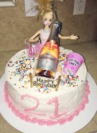 my version of the drunk barbie birthday cake all of my friends