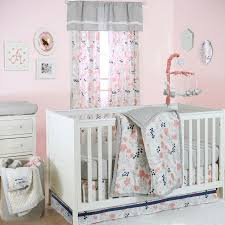 Navy And Coral Baby Bedding The Peanut Shell 4 Piece Baby Crib Bedding Set Coral Navy Blue
