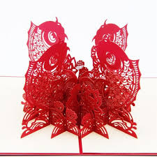 new year invitation card wholesale 3d greeting cards paper sculpture decorative crafts new