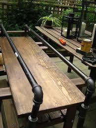 life designed diy pipe bar cart