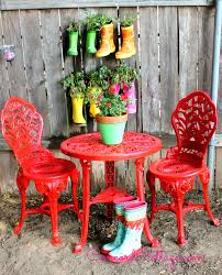 Ideas For Painting Garden Furniture by Cross Weave Patio Bistro Set Bright Patio Furniture That Is