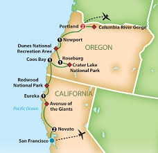 map of oregon dunes national recreation area mayflower tours