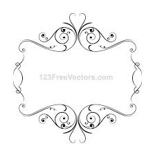 frame with ornaments vector free vectors ui